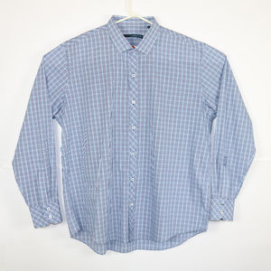 Zachary Prell XXL Blue Shirt Long Sleeve Plaid EUC